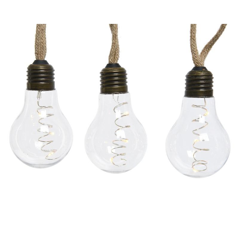 Kerstverlichting LED peerlampen met decoratieve fitting 270 cm