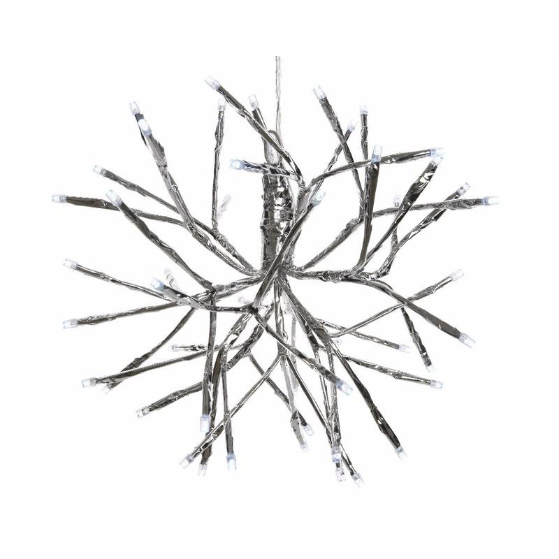 Kerstverlichting LED takkenbol koel wit binnen-buiten 25 cm