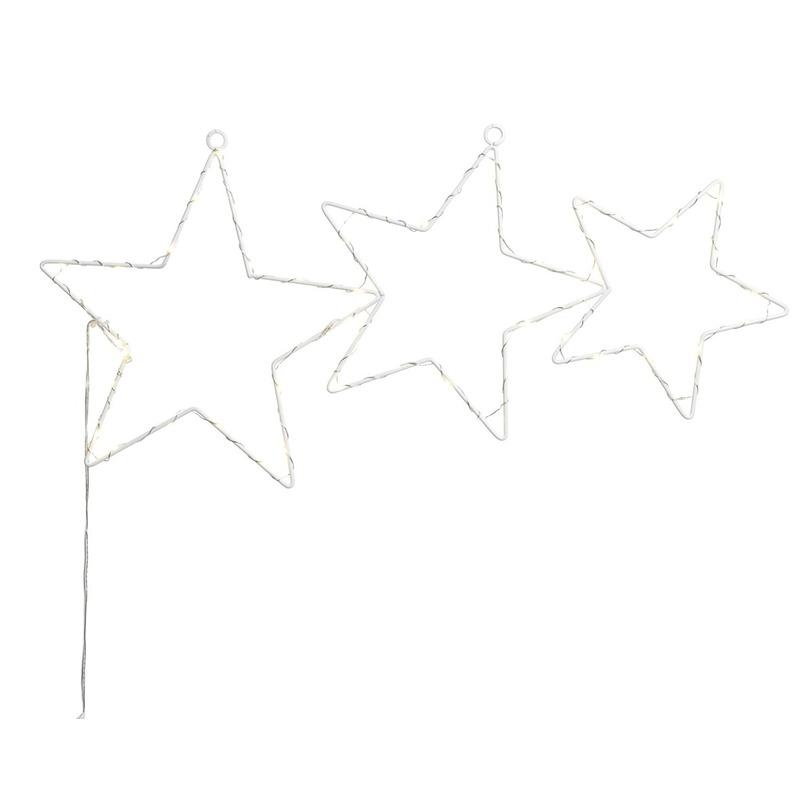 Kerstverlichting lichtgevende sterren op LED 57 cm