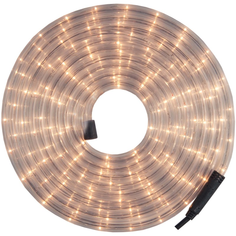 Kerstverlichting lichtsnoer-lichtslang wit 24 meter voor buiten