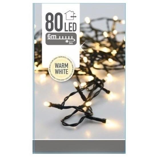 Kerstverlichting warm witte kerstlampjes 80 lichtjes