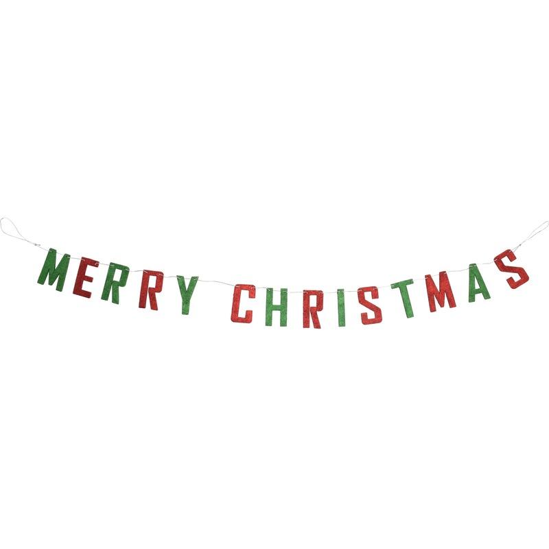 Kerstversieringen Merry Christmas slinger