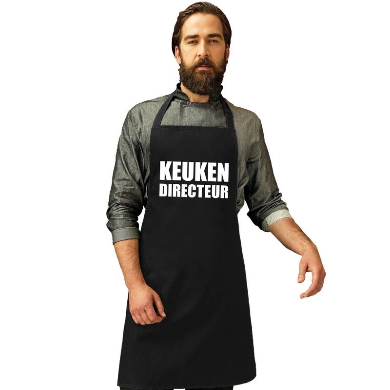 Keuken directeur keukenschort zwart heren
