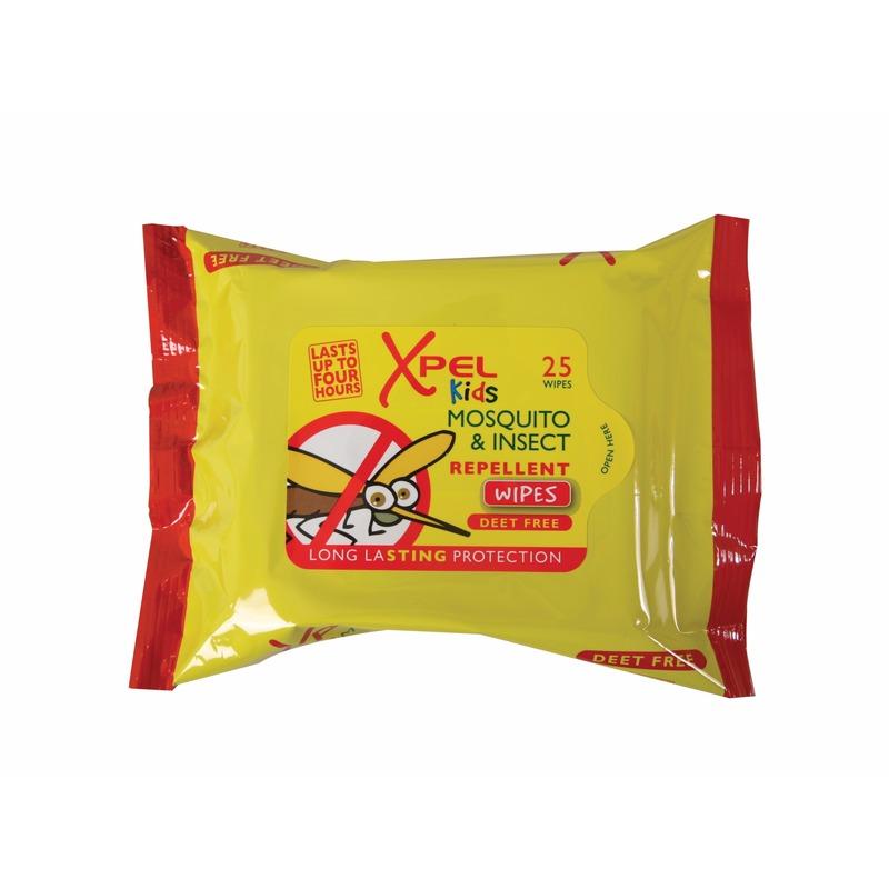Kinder anti muggen insecten doekjes 25 stuks Xpel gaafste producten