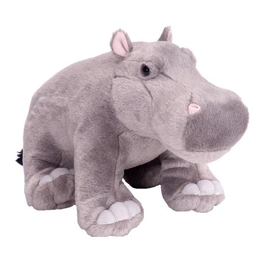 Kinder knuffel nijlpaard 30 cm