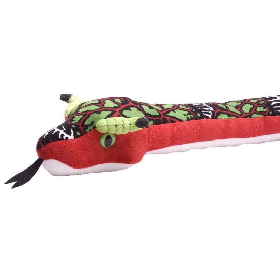 Kinder knuffel rode slang 137 cm