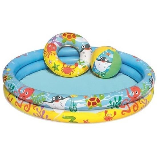 Kinder opblaas zwembad 3-delig 122 x 25 cm