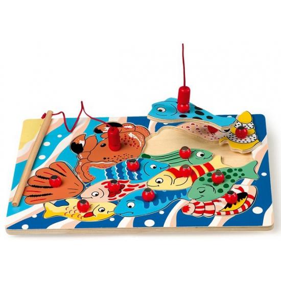 Kinder puzzel van vissen met een magneet hengel Capshopper Hoge kwaliteit