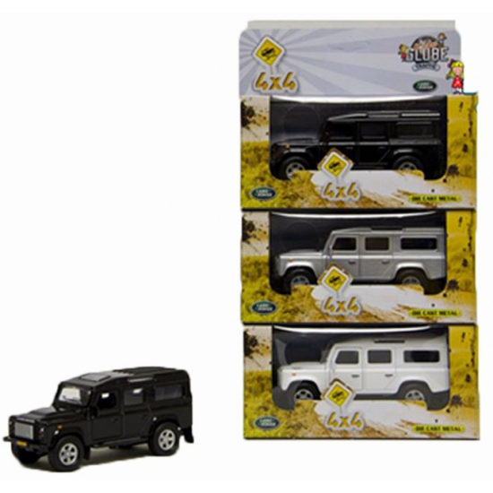 Kinderspeelgoed auto Land Rover zilver 20 cm