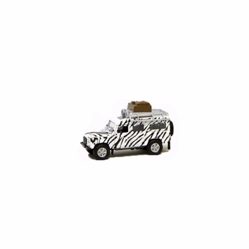 Kinderspeelgoed auto safari Land Rover wit 20 cm