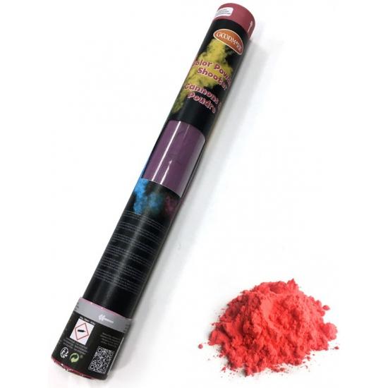 Kleurenpoeder shooter rood 40 cm