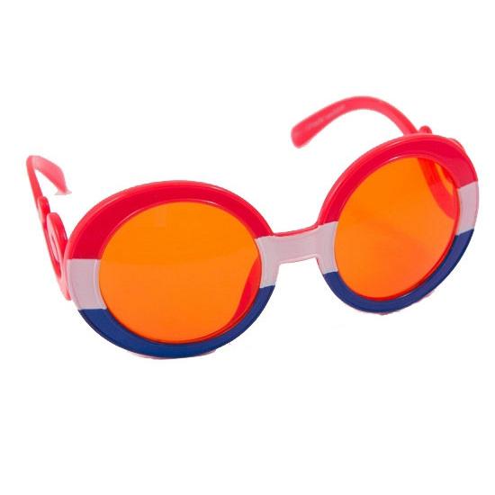 Koningsdag ronde bril oranje