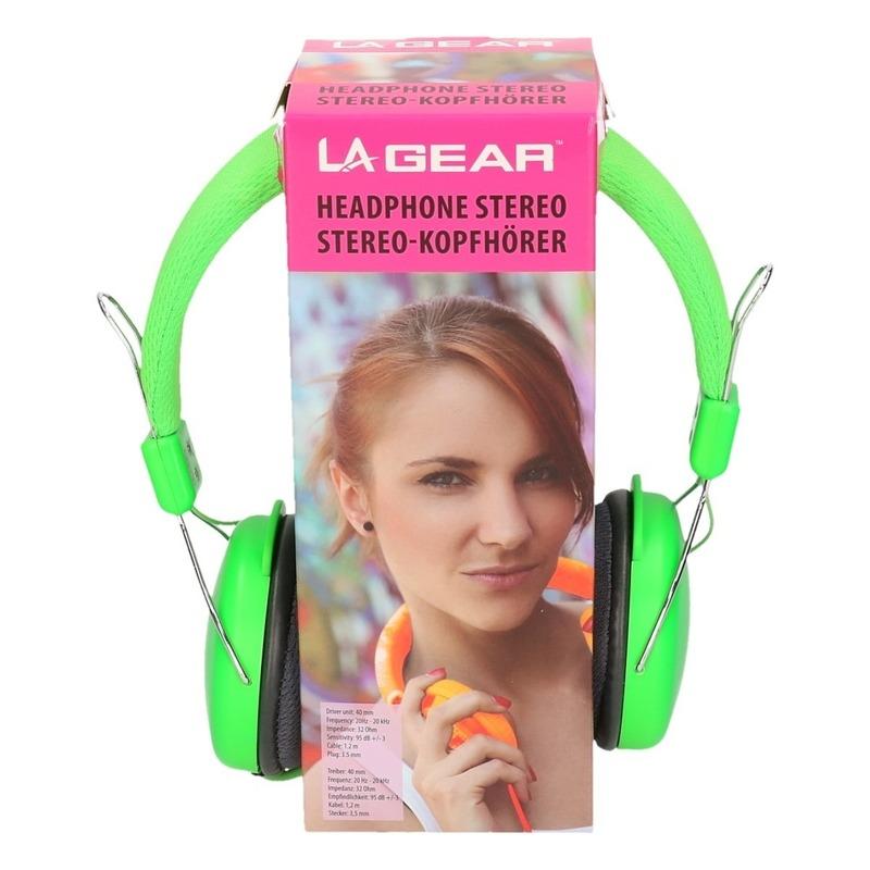 Koptelefoon stereo neon groen
