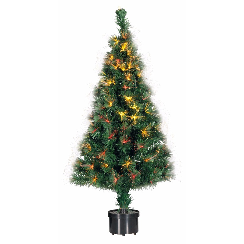 Kunst kerstboom met fiber licht 90 cm