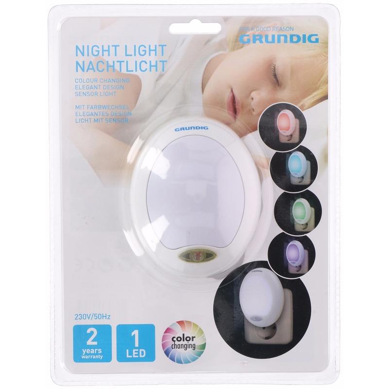LED nachtlampje kleur met sensor