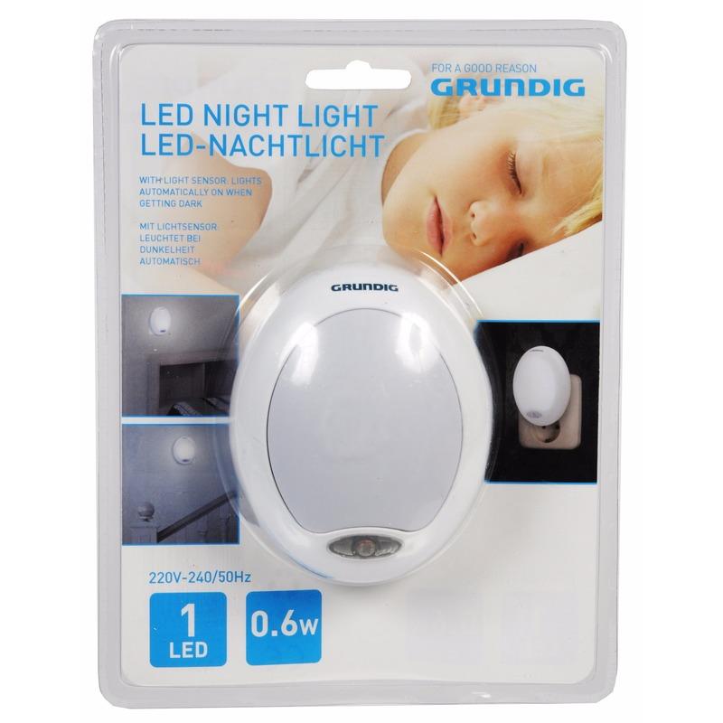 LED nachtlampje wit met sensor
