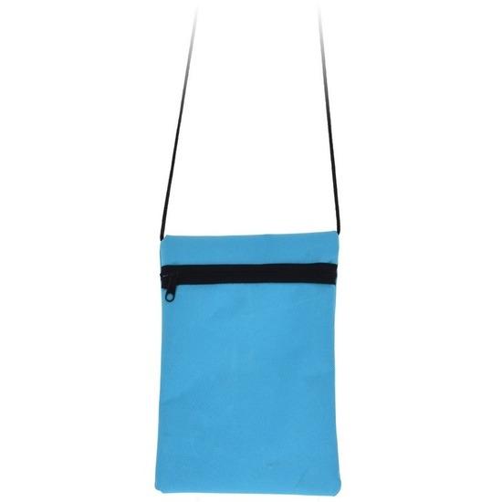 Lichtblauwe reisdocumententas 18 cm