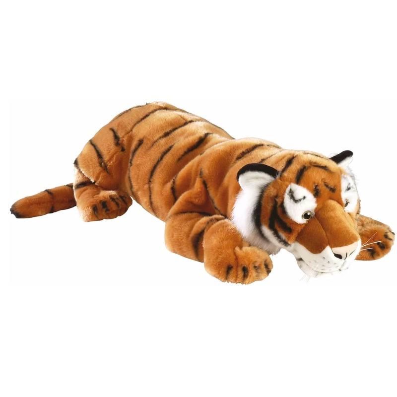 Liggende tijger knuffeldieren 76 cm