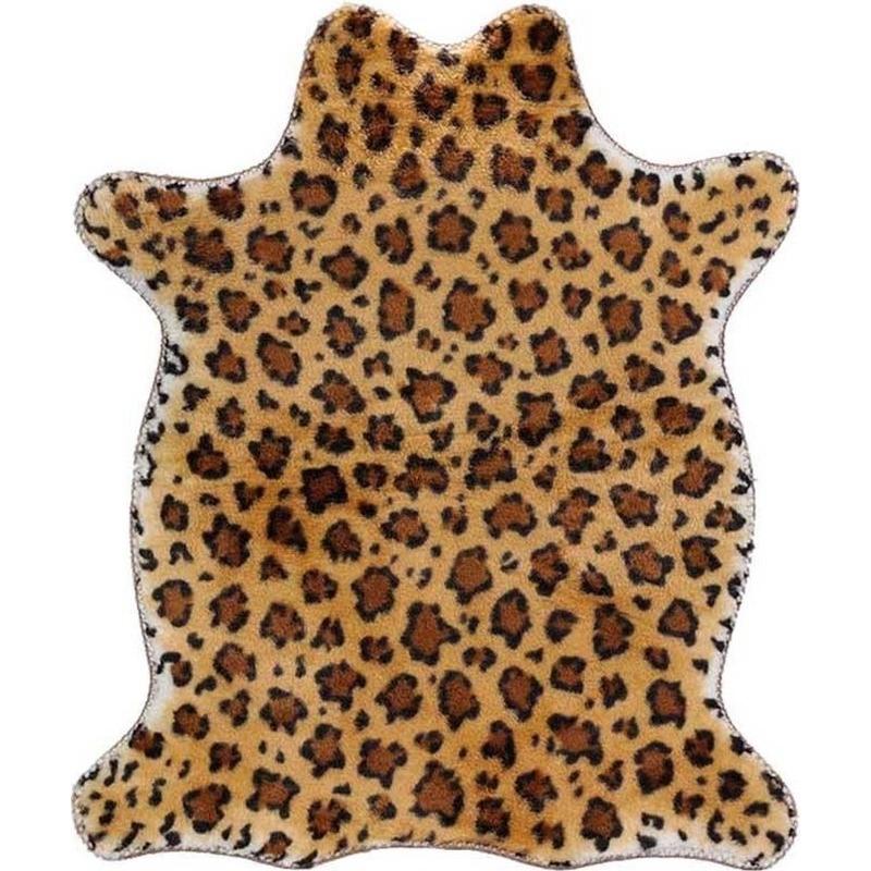 Luipaard nep dierenvel kleed-plaid 90 cm