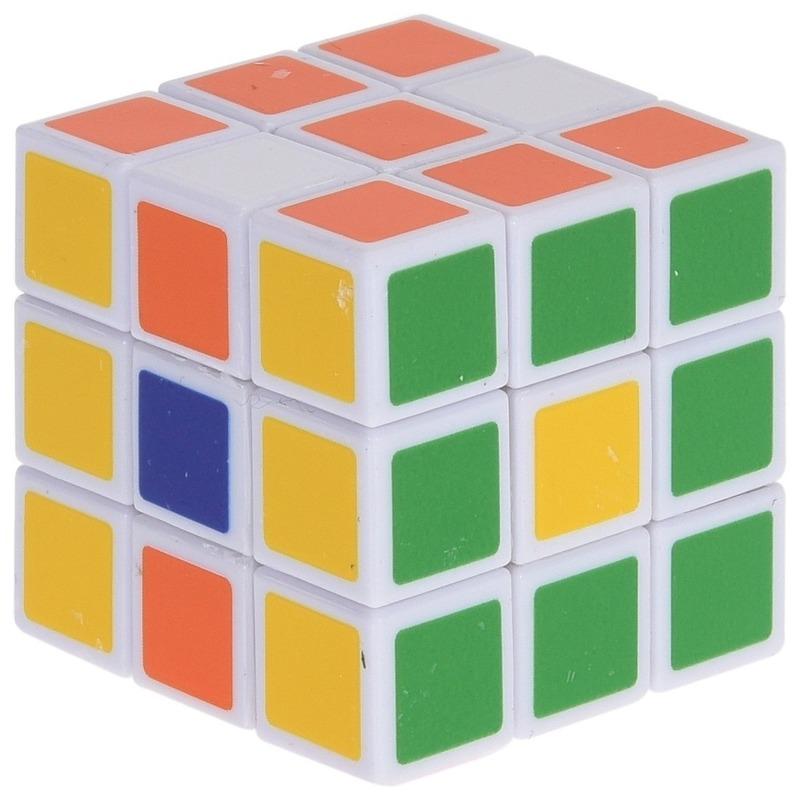 Magische kubus puzzel spelletje 5 cm speelgoed