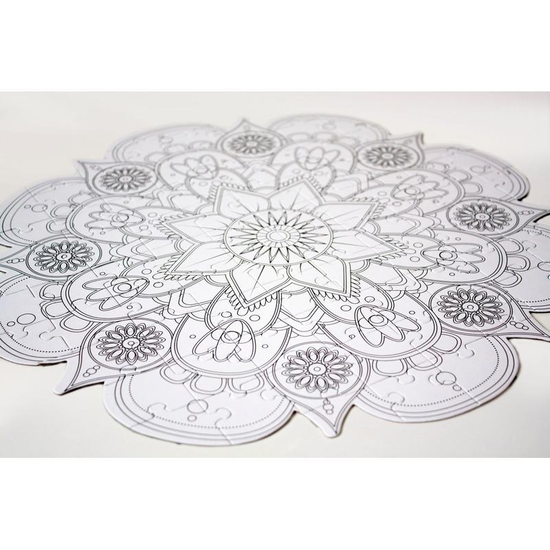 Mandala inkleur puzzel 78 stukjes