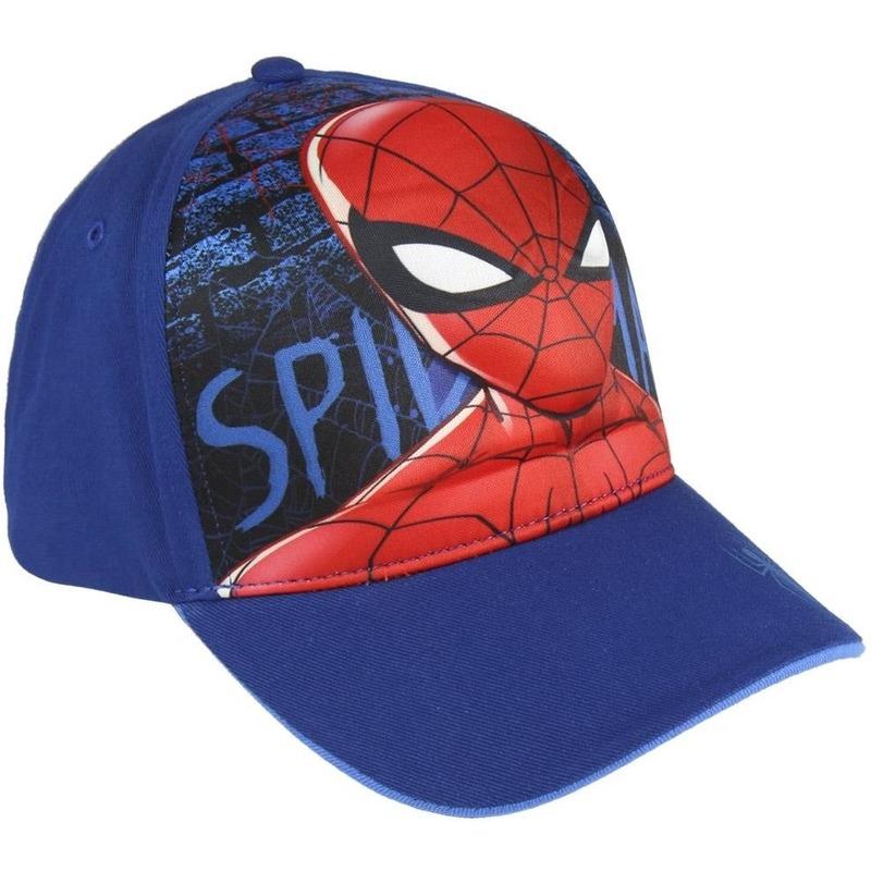 Marvel Spiderman 3D pet-cap blauw voor jongens