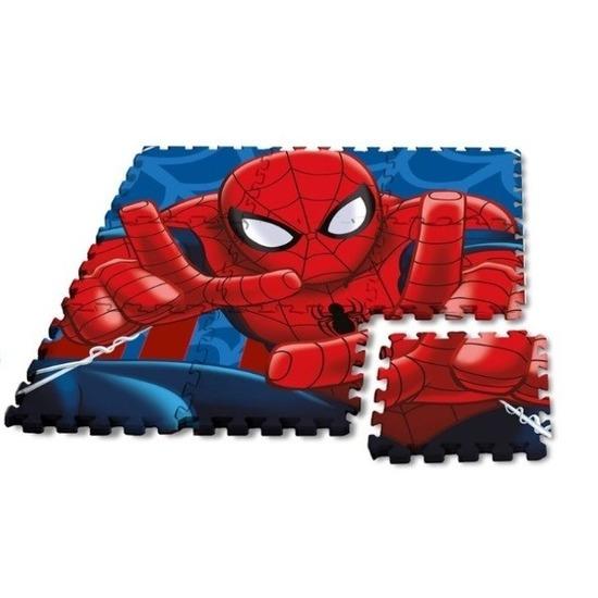 Marvel Spiderman puzzel speelmat foam tegels 30 x 30 cm 9 stuks