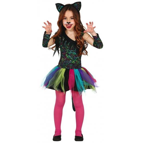 Meisjes dieren carnavalskostuum luipaard