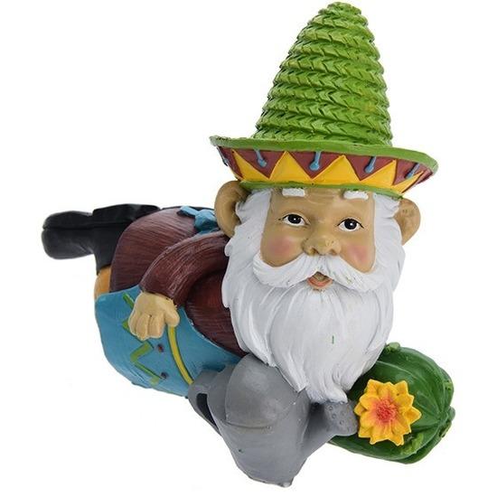 Tuin artikelen Geen Mexicaanse tuinkabouter fiesta groen 13 cm