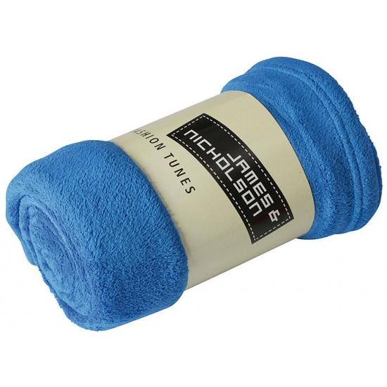 Microvezel fleece deken kobalt