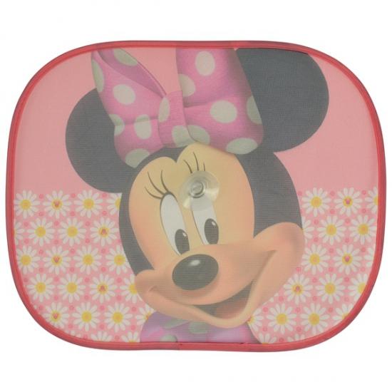 Minnie Mouse auto zonneschermen roze 2 stuks Disney Schitterend