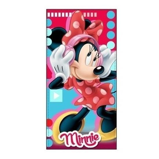 Minnie Mouse badlaken-strandlaken muziek 70 x 140 cm