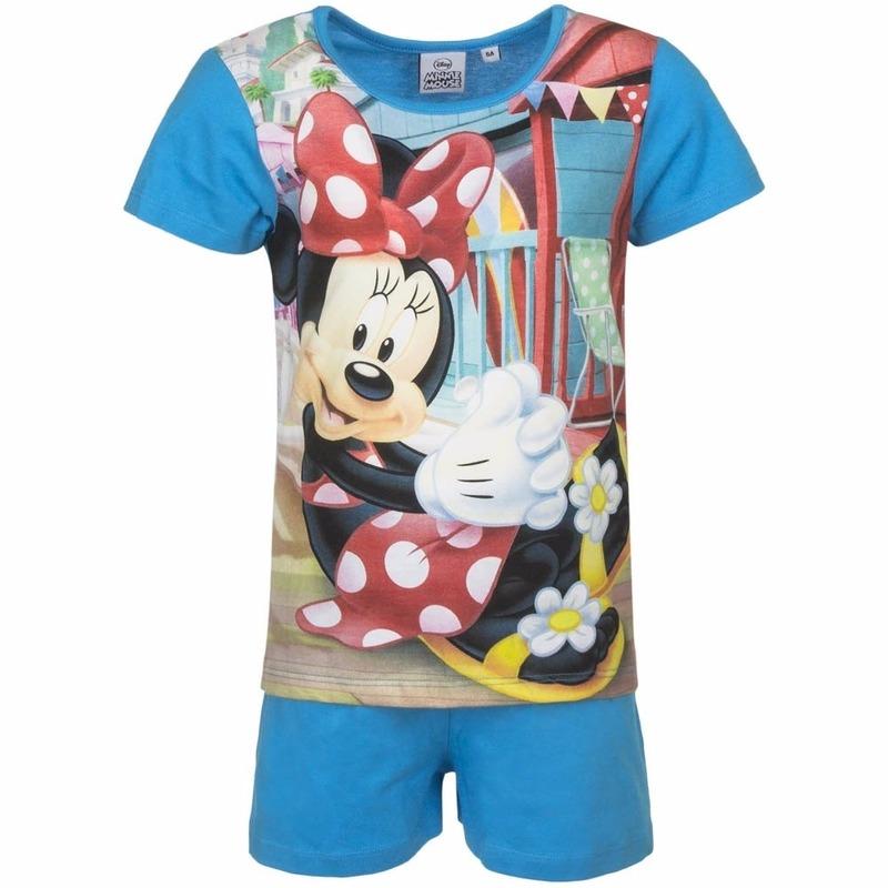 Minnie Mouse korte pyjama blauw