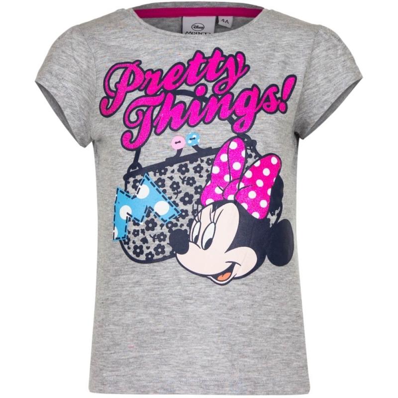 Minnie Mouse t-shirt grijs voor meisjes