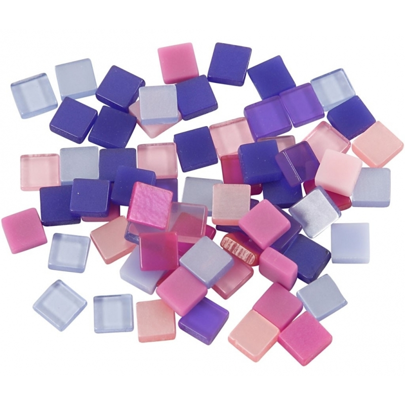 Mozaiek tegels kunsthars paars-roze 5x5