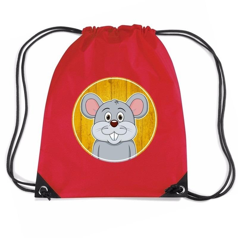 Muizen rugtas-gymtas rood voor kinderen