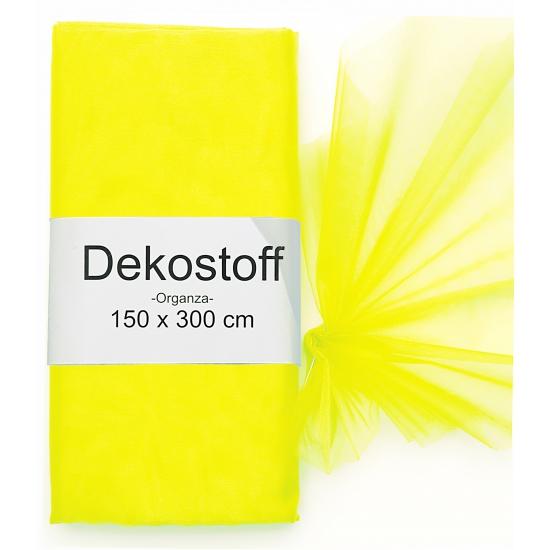 Neon gele gaas stof op rol 150 x 300 cm