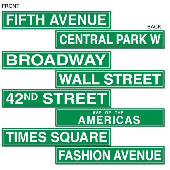 New York straat borden 61 cm