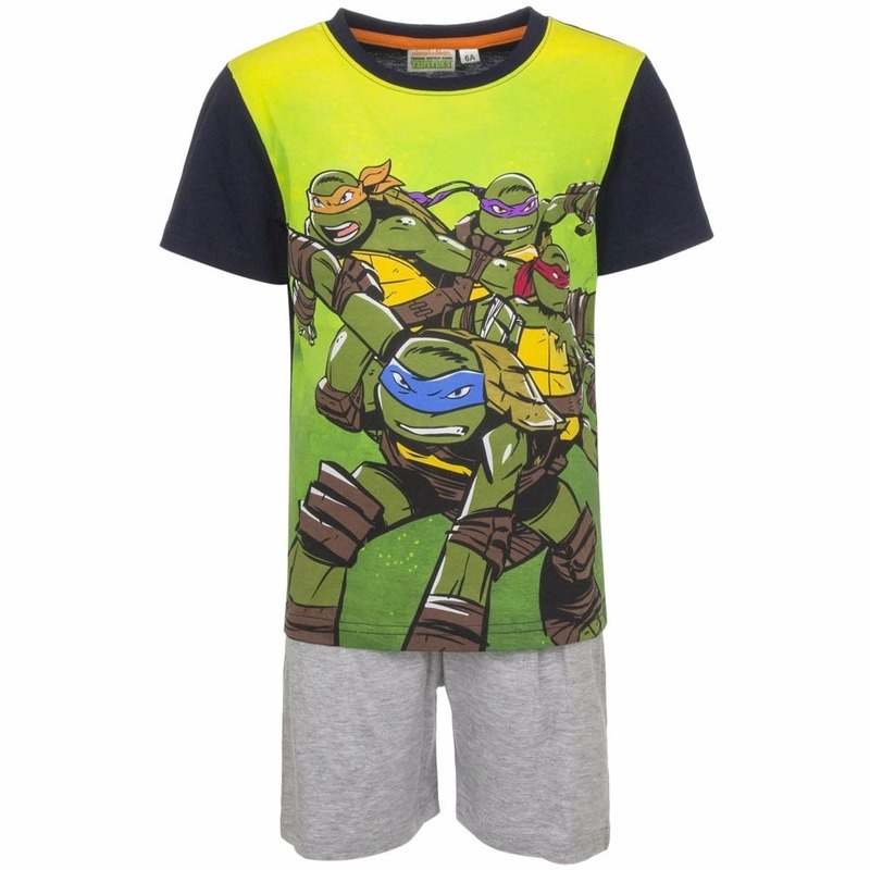 Ninja Turtles korte pyjama grijs