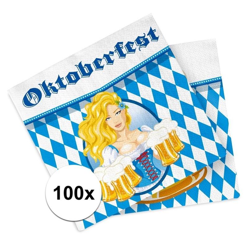 Oktoberfest 100x Oktoberfest versiering servetten