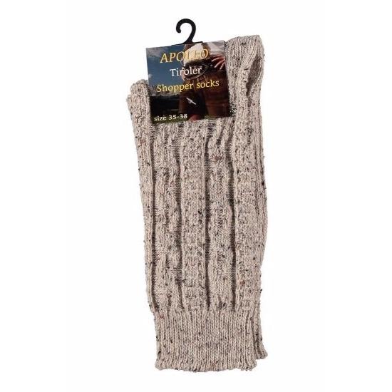 Oktoberfest Tiroler kousen-sokken beige voor volwassenen