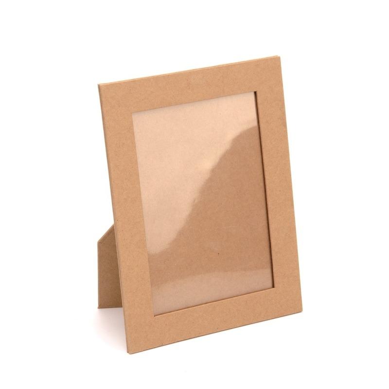 Onbewerkte kartonnen fotolijst 16,5 cm