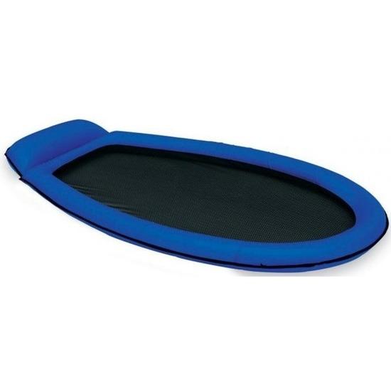 Opblaasbaar Intex luchtbed-loungebed blauw 178 x 94 cm