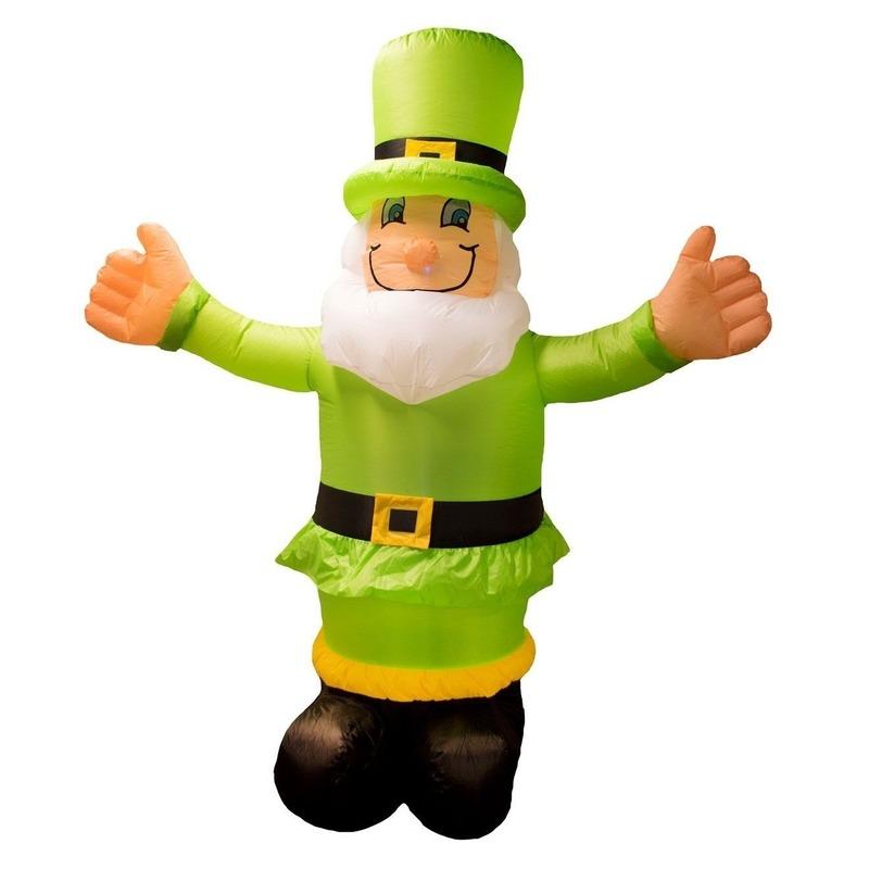 Opblaasbare kabouter St. Patricksday decoratie 180 cm