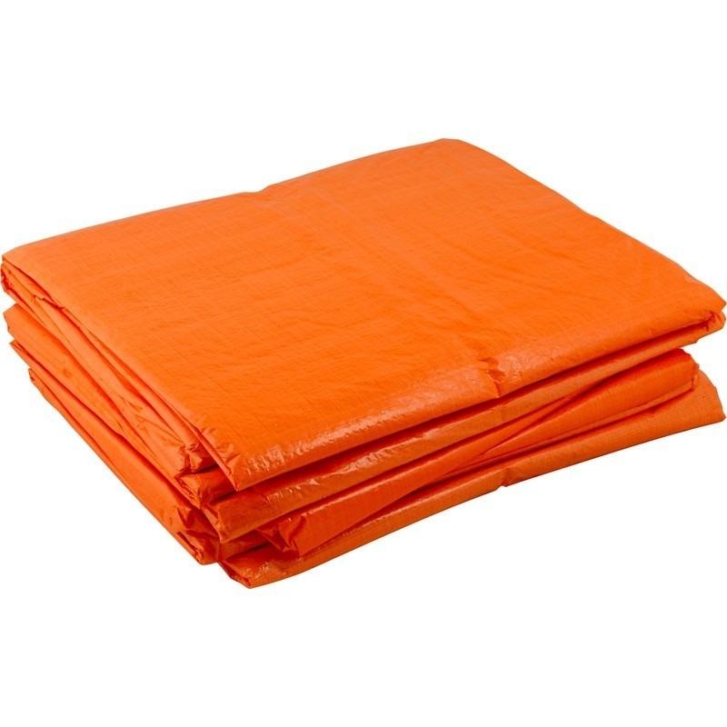 Oranje afdekzeil van 2 x 3 meter