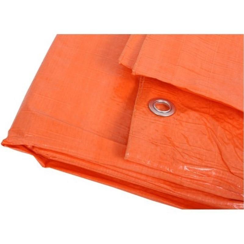 Oranje afdekzeil van 6 x 8 meter