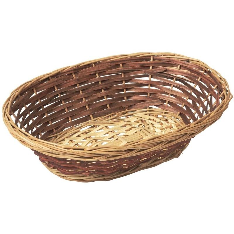 Ovale rieten brood mandje 33 x 25 x 10 cm