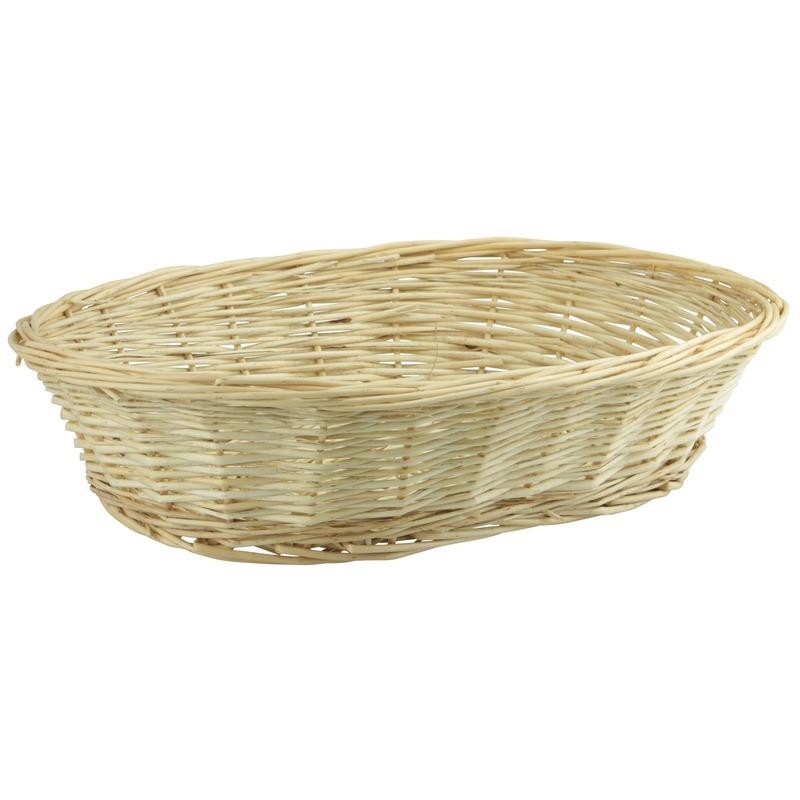 Ovale rieten brood mandje 40 x 28 x 10 cm