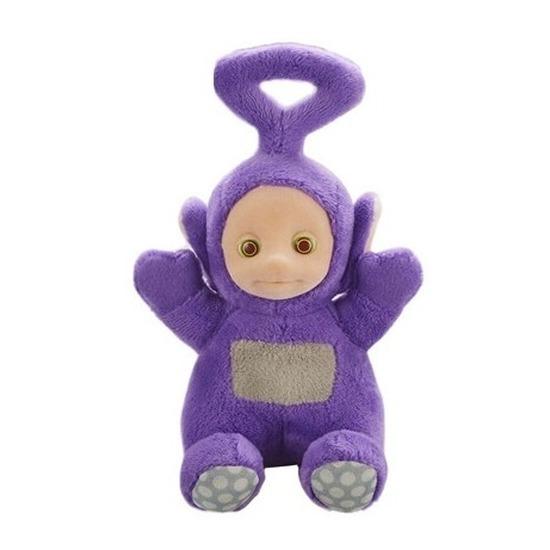 Paarse Teletubbie Tinky Winky knuffel-pop met geluid 20 cm