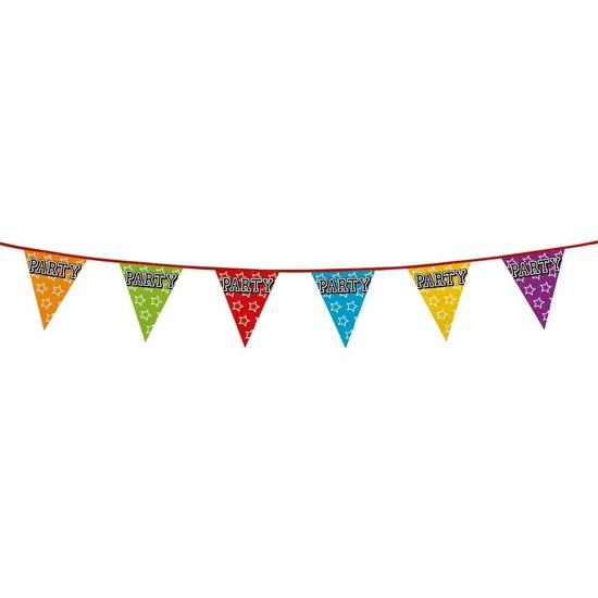 Party vlaggenlijn holografisch 8 meter
